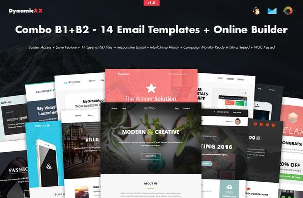 Creativemarket Combo B1+B2 – 14 Templates + Builder