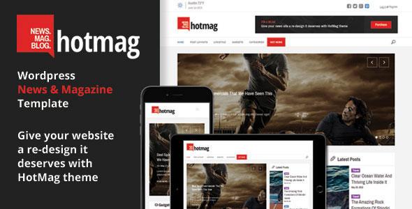 HotMag — WordPress News, Magazine Responsive Theme