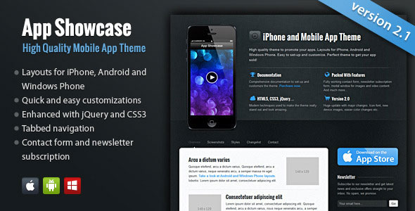 App Showcase — iPhone and Mobile App