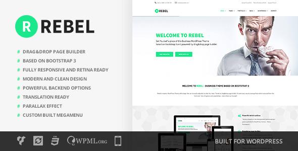 Rebel v1.2.0 — WordPress Business Bootstrap Theme