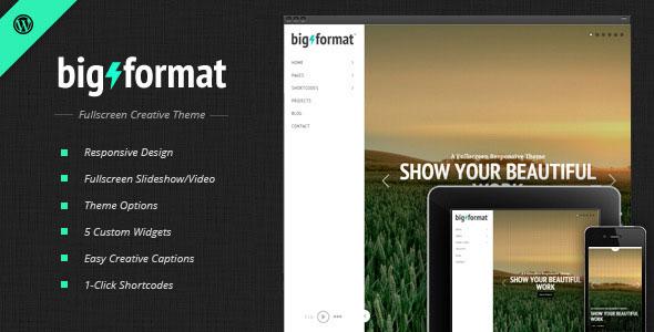 BigFormat v1.4.2 — Responsive Fullscreen WordPress Theme