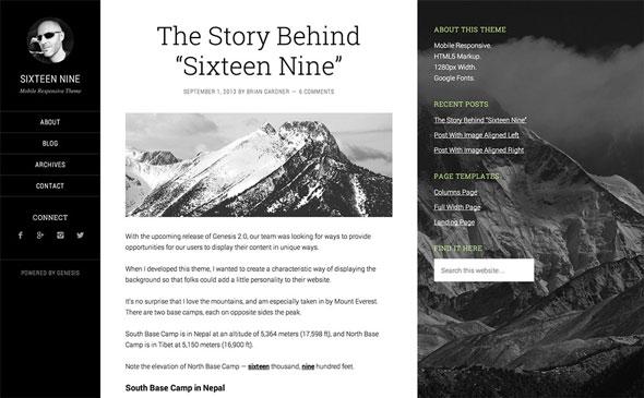 Sixteen Nine Pro — Genesis Child Theme