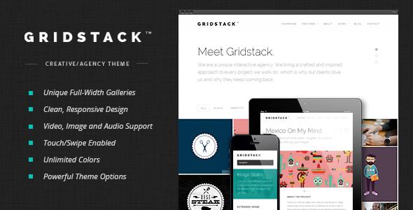 GridStack v1.3.0 — Themeforest Responsive Agency WordPress Theme