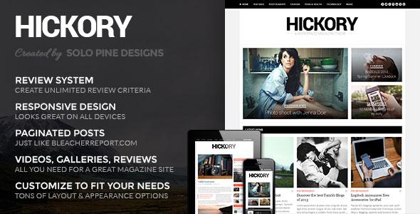 Hickory v2.0.5 — Themeforest WordPress Magazine Theme