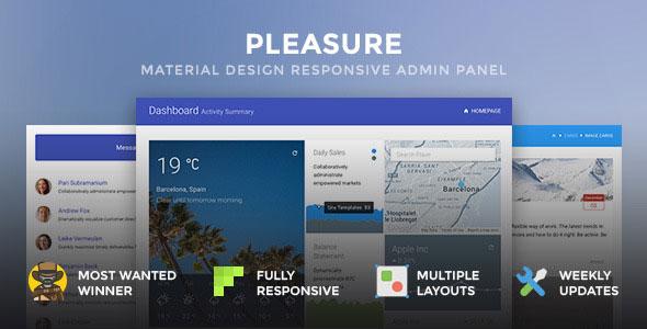 Pleasure — Material Design Responsive Admin Pane