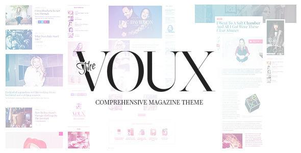 The Voux — A Comprehensive Magazine Theme