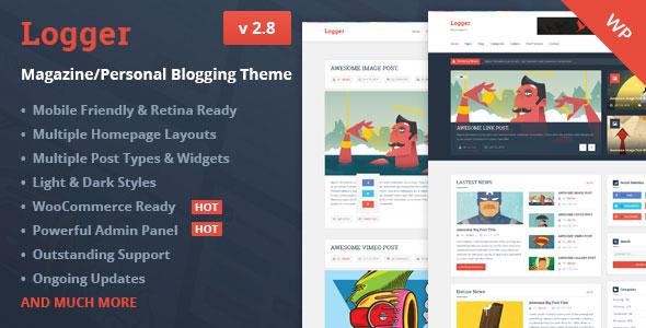 Logger v2.8 — Magazine/Personal Blogging Theme