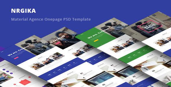 NRGika — Material Design Agency Template