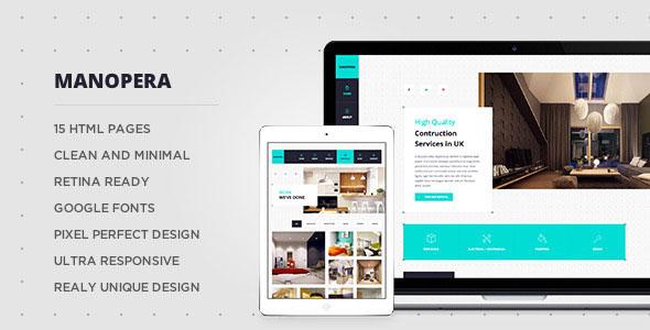 Manopera — Professional HTML Construction Theme