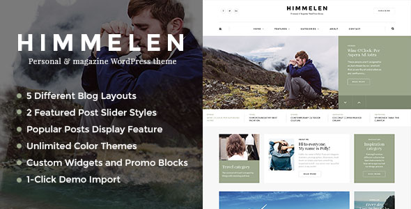 Himmelen — Personal WordPress Blog Theme
