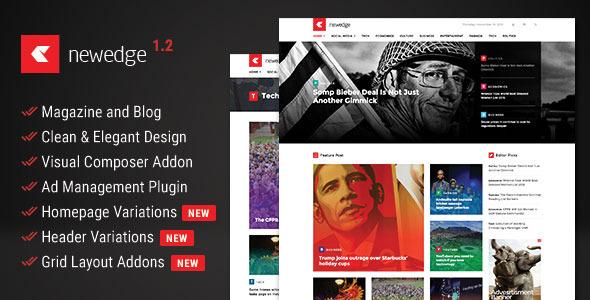 NewEdge — Responsive WordPress Magazine Theme