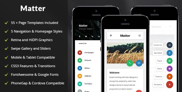 Matter — Mobile & Tablet Responsive Template