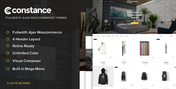 Constance — Full Width AJAX WooCommerce Theme