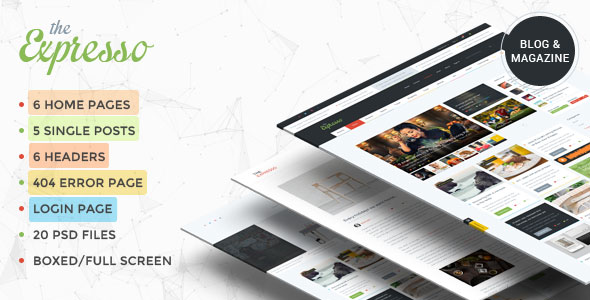 Expresso — A Modern Magazine and Blog Template