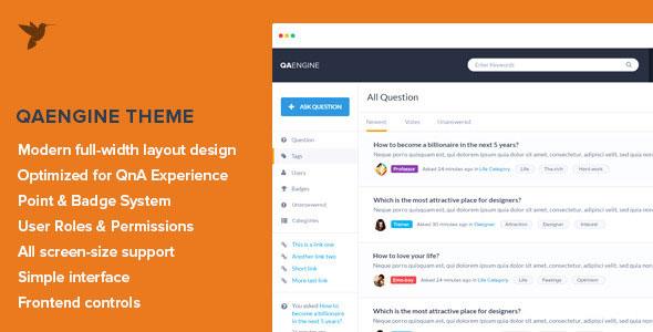 QAEngine v1.6 — Question and Answer WordPress Theme