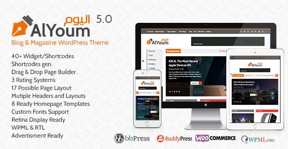 AlYoum v5.3.1 — Retina Magazine & Blog WordPress Theme
