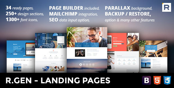 R.Gen — Landing Pages