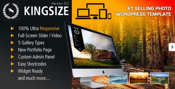 King Size v5.0.9 — Fullscreen Background WordPress Theme