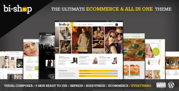 Bi-Shop v1.5.4 — All In One Ecommerce & Corporate theme
