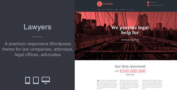 Lawyers — Responsive Business WordPress Theme