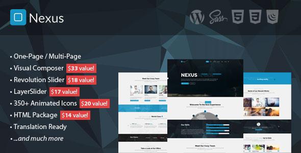 Nexus v1.8 — Multi/One-Page Business WordPress Theme