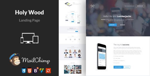 Holy Wood — Multipurpose WordPress Landing Page