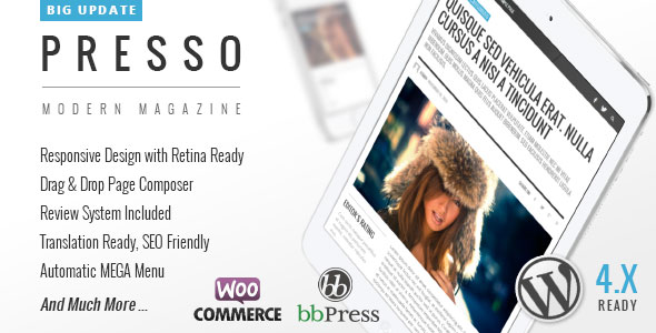 PRESSO v2.0.3 — Clean & Modern Magazine Theme