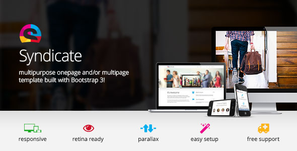 Syndicate — All Purpose Bootstrap Retina Template