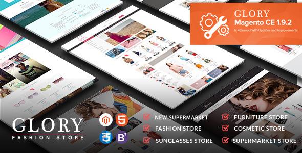 Glory — Magento Theme Multi-Styles Mobile Friendly