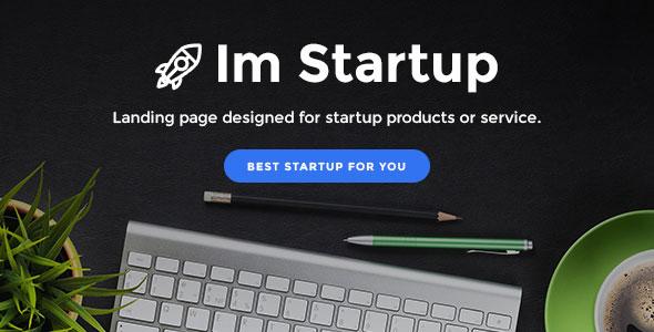 ImStartup — Startup Landing Page Template