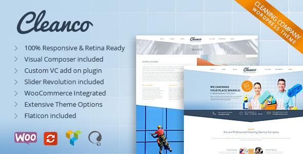 Cleanco v1.4.2 — Cleaning Company WordPress Theme