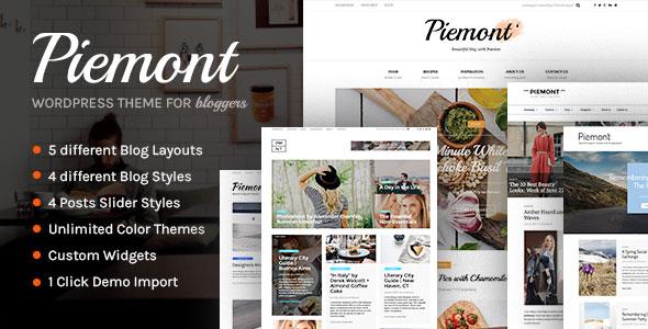 Piemont v1.2.3 — Premium Responsive WordPress Blog Theme