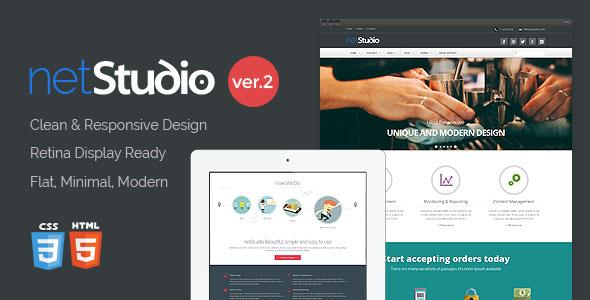 NetStudio — Bootstrap 3 Multi-Purpose Template