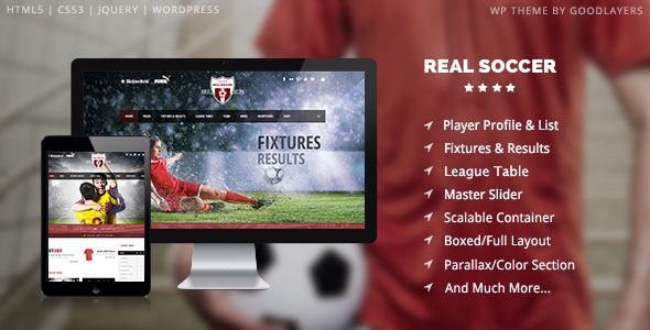 Real Soccer v1.06 — Sport Clubs Responsive WP Theme
