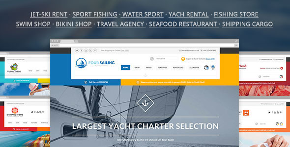 456 Sailing — Sport Shop & Yacht / Transport / Travel WP Theme