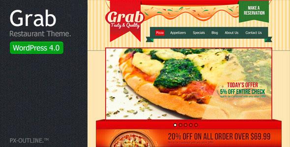 Grab Restaurant — WordPress Theme
