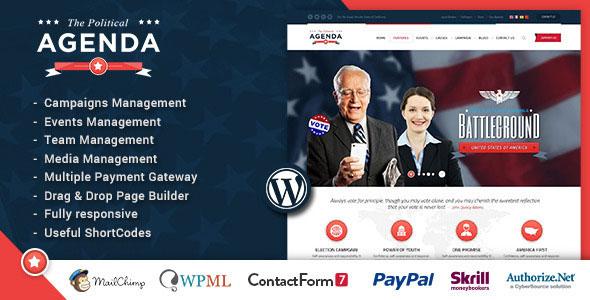 Agenda — Political Responsive WordPress theme