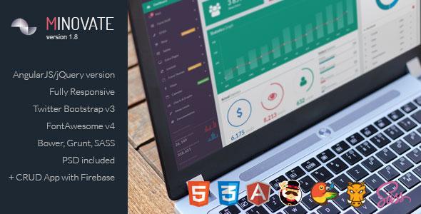 Minovate v1.8 — Angular Admin Dashboard