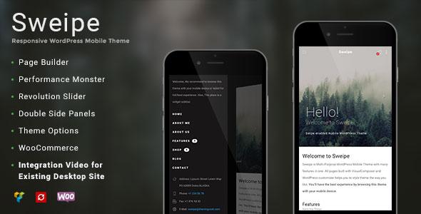 Sweipe v1.1 — Responsive WordPress Mobile Theme
