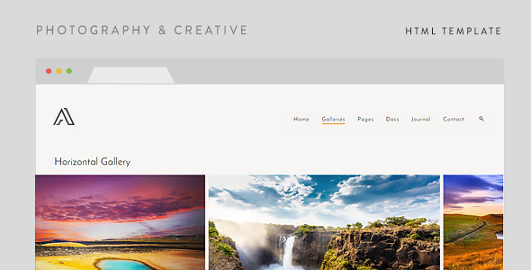 Airy — Photography & Creative HTML Template