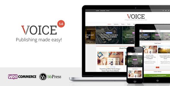 Voice v1.6 — Clean News/Magazine WordPress Theme