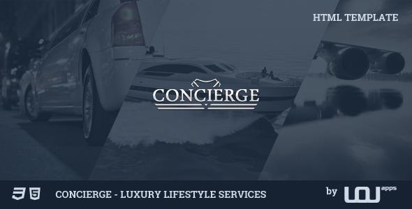 Concierge — Luxury Lifestyle Services HTML