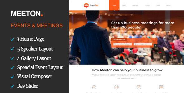 Meeton — Conference & Event WordPress Theme