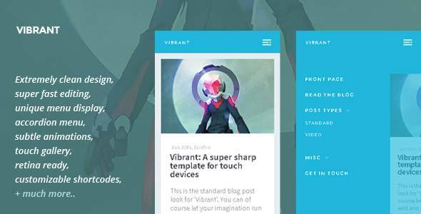 Vibrant — A super-sharp template for touch devices