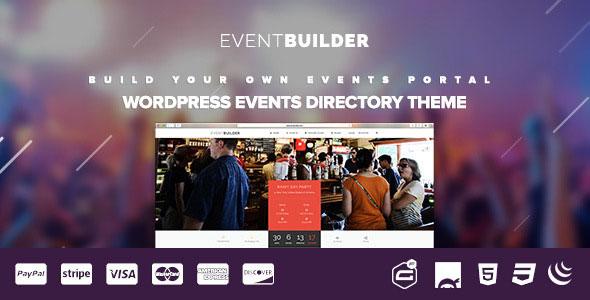 EventBuilder v1.0.5 — WordPress Events Directory Theme