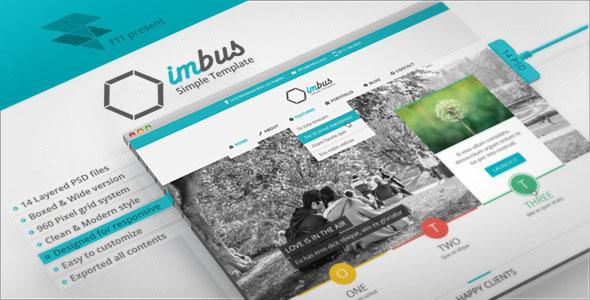 imbus — Simple PSD Template