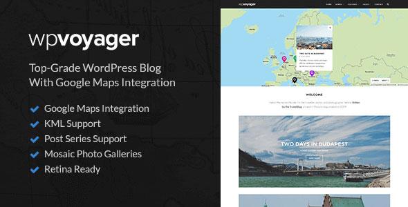 WPVoyager — Travel Blog WordPress Theme