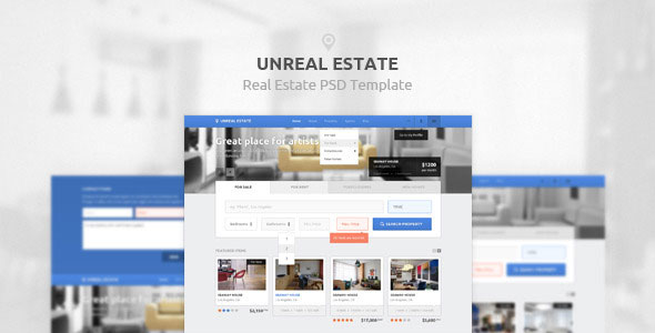 Unreal Estate — Real Estate PSD Template