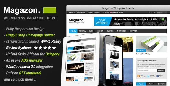 Magazon v3.0 — Advanced, Responsive WP Magazine Theme