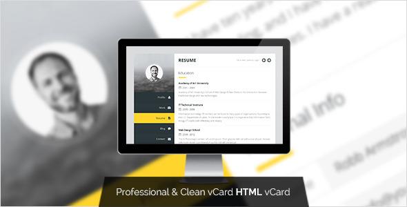Premium Layers — HTML vCard & Resume Template